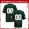 De Amerikaanse Voetbal Groen Jersey van de Polyester van het Embleem van de douane (eltfji-59)