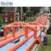大人および子供のための長い水スライド膨脹可能な都市スライド