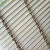 Tige en acier inoxydable architectural en métal tissé décoratif mur rideau en treillis métallique