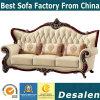 Цельная древесина королевского дома Мебель в гостиной раскладной диван из натуральной кожи (B01)