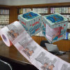 O paizinho imprimiu o tecido de banheiro personalizado papel higiénico da imagem