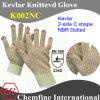 Из кевлара трикотажные рукавицы с 2-C Форма NBR точек/ EN388: 234X