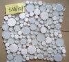 Mattonelle di mosaico di vetro Mixed del marmo bianco di cristallo