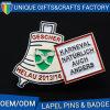 中国製OEMのロゴの安い価格の新しい折りえりピン