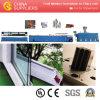 Ligne en plastique d'extrusion de production à la machine d'extrudeuse de profil de guichet de PVC/WPC