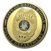 Dipartimento per l'energia in lega di zinco all'ingrosso degli Stati Uniti Amercian la medaglia della moneta di sfida placcata oro (YB-c-013)