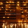 O diodo emissor de luz ao ar livre da corda da cortina da inclinação da decoração do Natal ilumina o banquete de casamento do Xmas do jardim do ano novo