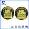 Etiqueta de etiqueta abobada de resina adesiva redonda PU (SZXY067)