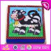Novo Design Educacional Toy Crianças Puzzle Cubo de madeira W14f055