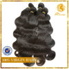 6A Grade Body Wave Weft 100%년 Peruvian Virgin Unprocessed Remy Human Hair Extension (TFH-NL0066)