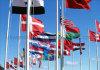 Bandiere nazionali 100% di Polyster