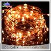 los 10m calientan la luz blanca de la cadena de las decoraciones LED de la Navidad del alambre de cobre