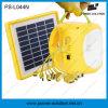 Lumière solaire solaire rechargeable de la batterie DEL de Lithium-Ion portatif avec le remplissage de téléphone (PS-L044N)