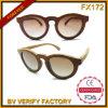 Da alta qualidade encantadora dos frames da forma Fx172 óculos de sol materiais de madeira