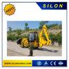caricatore dell'escavatore a cucchiaia rovescia a ruote mini giardino 4X4 con la benna di caricamento 2500kg