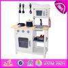 Cozinha de madeira nova do jogo 2014, cozinha popular do jogo do brinquedo dos cabritos, fábrica ajustada W10c045W da cozinha do jogo da venda crianças quentes