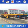 40ton Cargando Tri Eje Flatbed Trailer Made in China