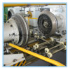 スチールドラムの生産機械: 機械に玉を付けること