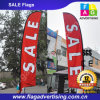 Tragbare Full Color Polyester Werbung Beachflag zum Verkauf