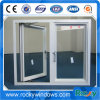 Janela Casement vidro temperado duplo e as portas para casa
