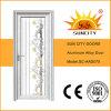 Porte en aluminium en verre de feuille simple extérieure de luxe pour la salle de bains (SC-AAD075)