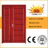 入口の同じ高さの切り分けるMon&Sonの木製のドア(SC-W018)