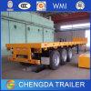트랙터 유효한 세 배 차축 콘테이너 40ton 40FT 평상형 트레일러 세미트레일러