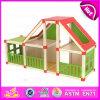 2015 Nova casa de boneca de brinquedo de madeira para crianças, montagem de madeira para crianças monta casa de boneca, brinquedo de casa de boneca DIY atacado W06A110