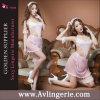 Princesse sexy Costume (KUM0-014) de lingerie de lacet de bonne de Babydoll de femmes