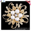 17g Round Flower Alloy Brooch con Pearl