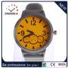 Relojes de marca de los hombres, simple, reloj, reloj de aleación de la correa de silicona (DC-287)