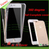 360 caixa transparente coberta cheia do telefone do grau TPU para o iPhone 6s