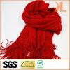 Senhora de moda de acrílico com vermelhos quentes de Inverno lenço no pescoço com margem