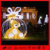 Luz impermeável ao ar livre do urso do diodo emissor de luz 3D da iluminação do feriado da luz da decoração do Natal do tamanho feito sob encomenda