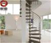Escadaria de madeira de aço do metal decorativo, Stircase redondo---Yudi