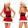 Comercio al por mayor trajes de vacaciones de Navidad lazos de la mujer sexy vestido