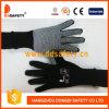 China Proveedor de algodón tejido Mini salpicada la mitad de los dedos guante de trabajo
