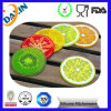 참신 Design 비 Slip Fruit Slice Silicone Drink Coaster (9X9cm (3.5 ))