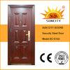 30 X 78 Porta de aço inoxidável exterior com alça (SC-S155)
