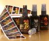 Liberare il disegno la vostra etichetta adesiva della bottiglia di olio dei capelli di marca, autoadesivo personalizzato dell'olio essenziale della bottiglia di vetro