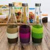Fles Van uitstekende kwaliteit van het Glas van het Sap van de Olijfolie van het Water van de fabriek de In het groot Kleurrijke (100013)