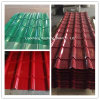 Hoja de acero galvanizada cubierta color del material para techos de Corruagted