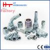 Embout de durites hydraulique de portée plate femelle droite de Bsp de coude de l'usine de la Chine (22211.22241.22291)