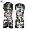 スポーツ・ウェアのカスタム昇華人のバスケットボールのジャージーの最新のバスケットボールのユニフォームデザイン