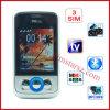 Tri teléfono celular de la venda 3 SIM de SIM 4