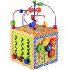多機能の箱の赤ん坊の幼児子供は1から5歳のための木のおもちゃに玉を付けた
