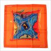 Новая конструкция сплошным цветом единообразных напечатано шелковые шарфы с логотипом из полиэфирного волокна (SF-016)