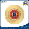 특별한 가장자리를 가진 주문을 받아서 만들어진 다이아몬드 사자 기념품 동전