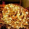 10m 100 luz feericamente de cobre das luzes 6V