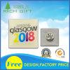 Divisa de aluminio con la pantalla de seda impresa y Pin de seguridad asociado
